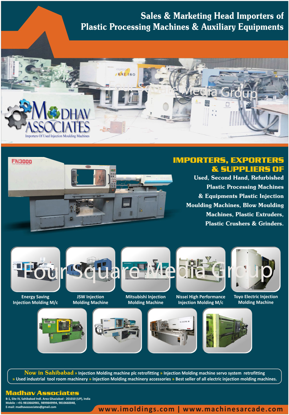 Refurbished Plastic Processing Machinery, Second Hand Plastic Processing Machinery, Used Plastic Processing Machinery, Plastic Processing Equipments, Blow Moulding Machines, Plastic Extruder, Plastic Crushers, Plastic Grinders, Plastic Injection Moulding Machines, Plastic Processing Machines, Refurbished Plastic Processing Equipments