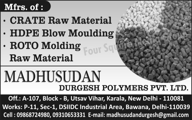 CRATE Raw Materials, HDPE Blow Moulding, Roto Moulding Raw Materials