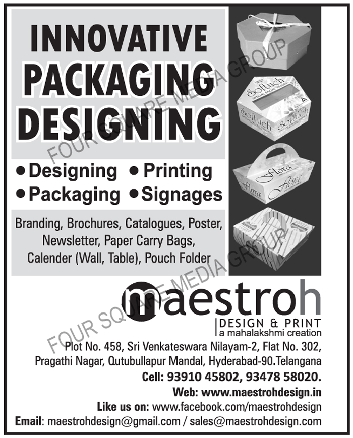 Printing Services, Packaging Services, Designing Services, Signages, Branding Designing Services, Brochure Designing Services, Catalogue Designing Services, Poster Designing Services, Newsletter Designing Services, Paper Carry Bag Designing Services, Wall Calender Designing Services, Table Calender Designing Services, Pouch Folder  Designing Services, Branding Printing Services, Brochure Printing Services, Catalogue Printing Services, Poster Printing Services, Newsletter Printing Services, Paper Carry Bag Printing Services, Wall Calender Printing Services, Table Calender Printing Services, Pouch Folder Printing Services