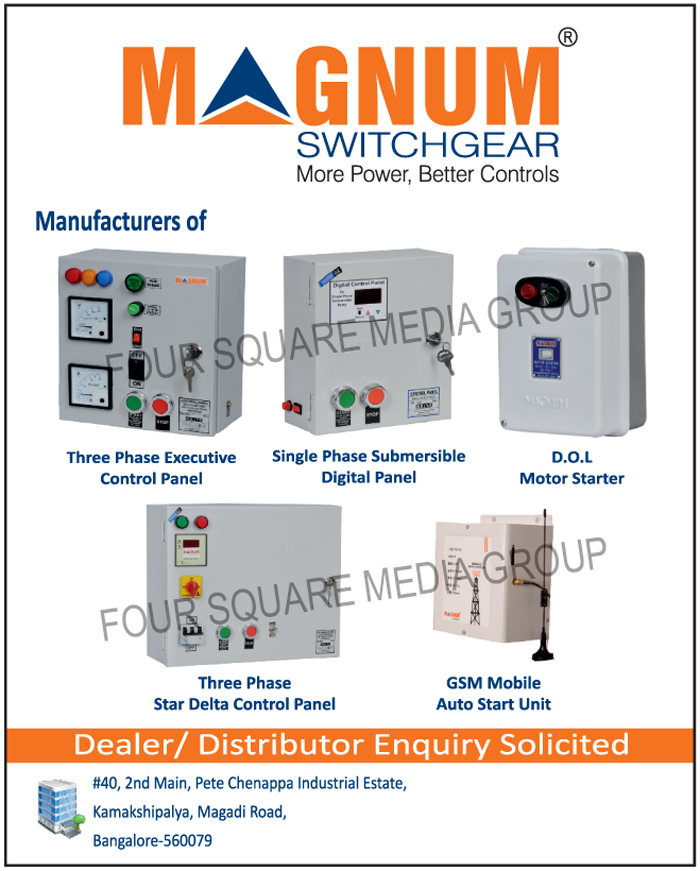 Three Phase Executive Control Panels, Single Phase Submersible Digital Panels, DOL Motor Starters, Three Phase Star Delta Control Panels, GSM Mobile Auto Start Units, 3 Phase Executive Control Panels, 3 Phase Star Delta Control Panels