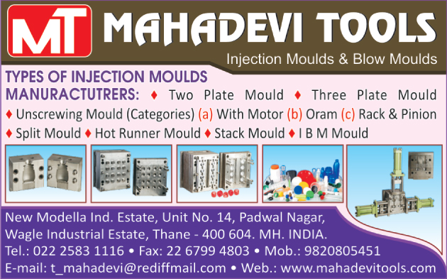Blow Moulds, Injection Moulds, Two Plate Moulds, Three Plate Moulds, Unscrewing Mould With Motor, Unscrewing Mould With Oram, Unscrewing Mould With Rack, Unscrewing Mould With Pinion, Split Moulds, Hot Runner Moulds, Stack Moulds, IBM Moulds,Cavity Spit Molds, Measuring Cup Molds