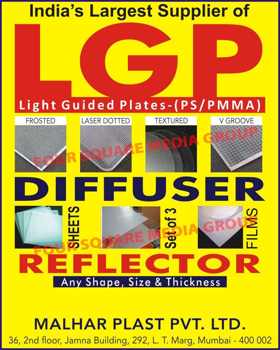 Diffuser, Reflector, Diffuser Sheet, Diffuser Film, Frosted Diffuser, Laser Dotted Diffuser, Textured Diffuser, V Groove Diffuser, Light Guided Plates