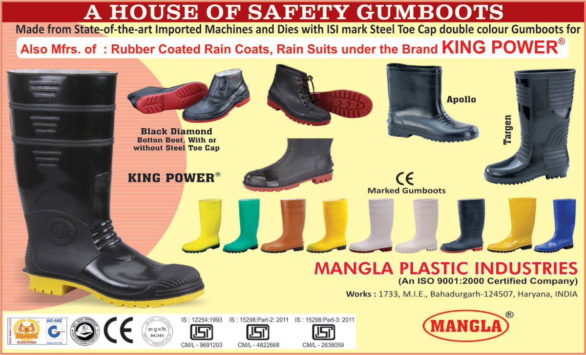 Rainy Shoes, Fire Safety Gumboots, Safety Gumboots, Rain Suits, Rubber Coated Rain Coats, Gumboots, Rain Coats, Rubber Coating Gumboots, Rain Boot, Industrial Safety Gumboot, Button Boot, Safety Shoes, Ankle Boots, Sports Shoes, Rain Wear, Safety Products