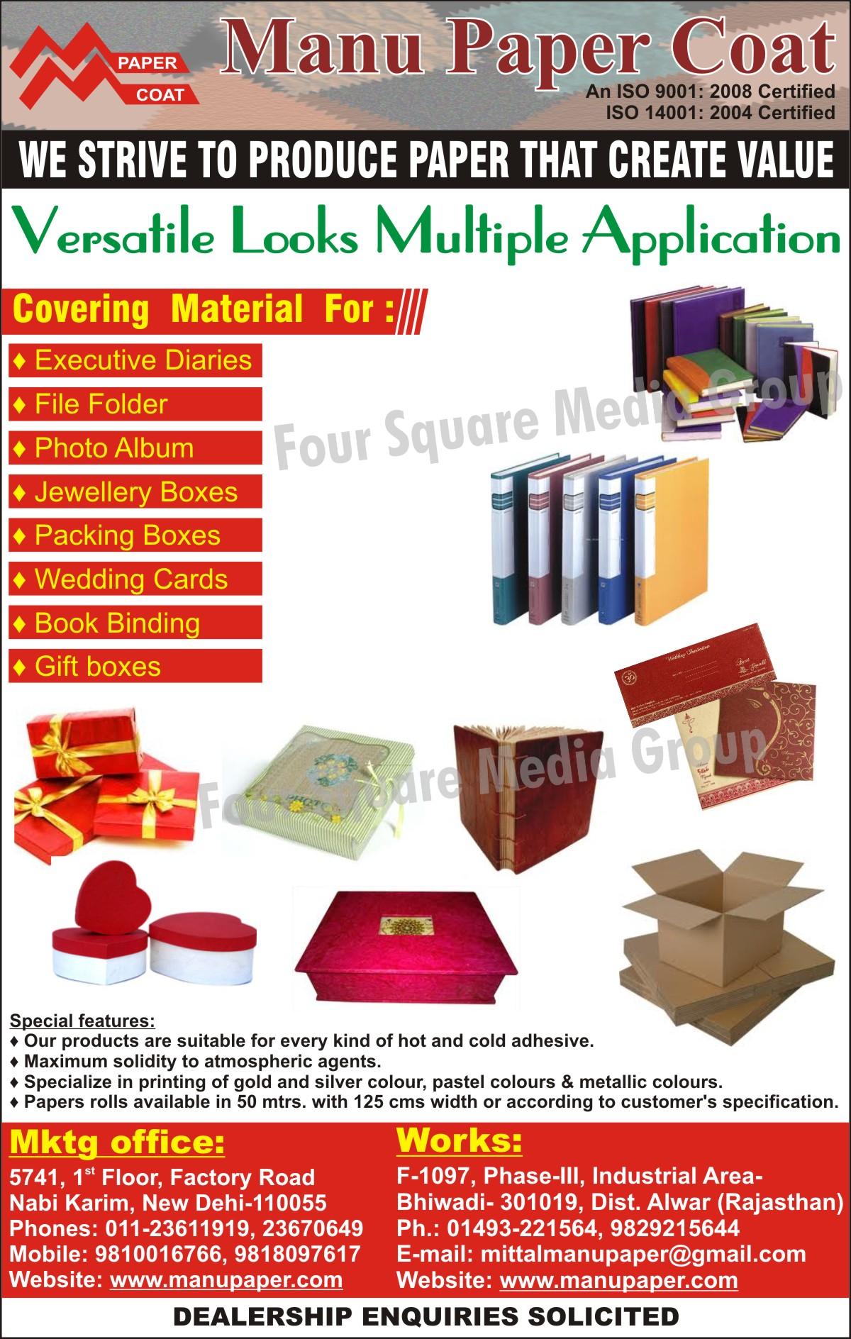 PVC Paper, ExecutBox Covering Materialive Diary Covering Material, File Folder CoveriBox Covering Materialng Material, Photo Album Covering Material, Jewellery Box Covering Material, Packing Box Covering Material, Wedding Cards Covering Material, Book Binding Covering Material, Gift Box Covering Material