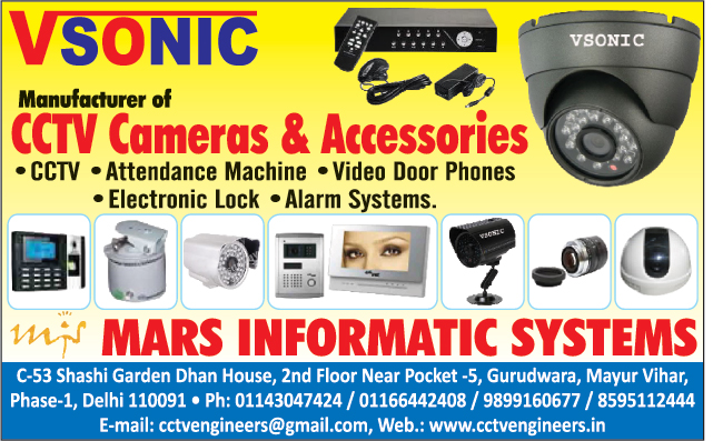 CCTV Cameras, Attendance Machines, Video Door Phones, Electronic Locks, Alarm Systems, CCTV Accessories, Fire Safety Products