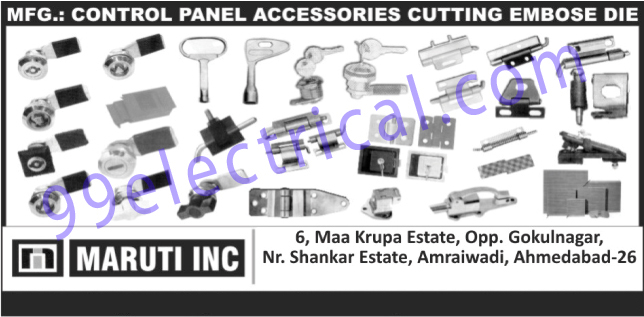 Control Panel Accessories, Cutting Emboss Dies