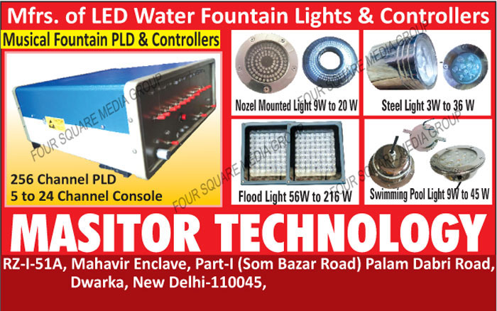 Led Water Fountain Lights, Led Water Fountain Controllers, Nozel Mounted Lights, Steel Lights, Led Flood Lights, Swimming Pool Lights, Musical Fountain PLD, Musical Fountain Controllers, RND For Micro Controller Based Circuit Micro Controller Programing
