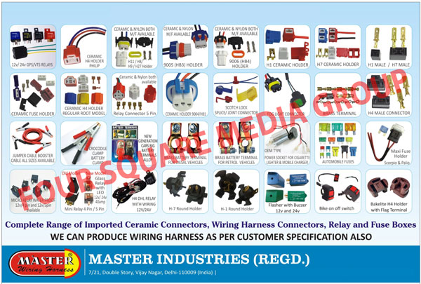 Automotive Electrical Parts, Wiring Harnesses, Relay Wirings, Micro Relays,  Glass Relays, Big Fuses, Relay Wirings, Horn Relay Wirings, ACC Relays, ...