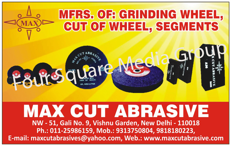 Abrasives, Reinforced Grinding Wheels, Reinforced Cut of Wheels,Grinding Wheels, Off Hand Grinding Wheels, Toolroom Reinforced, Cut Off Wheels, Depressed Center Wheels, Off Hand Snagging Wheels, Segment Wheels