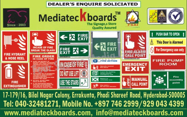 Safety Signages, Fire Sign Boards