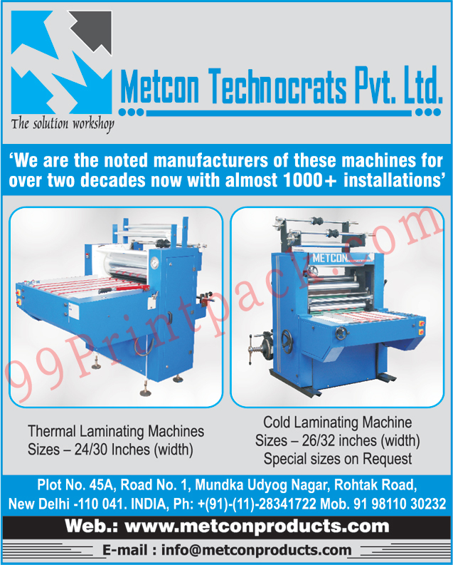 Thermal Lamination Machines, Cold Laminating Machines,Lamination Machines, Hot Foil Stamping Machines, SPM Pneumatic Presses, Hot Lamination Machines, Gluing Machines, Hydraulic Book Press, Industrial Gluing Machines, Hydraulic Book Press Machines, Paper Laminating Machines