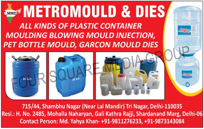 Plastic Containers, Pet Bottle Moulds, Garcon Mould Dies