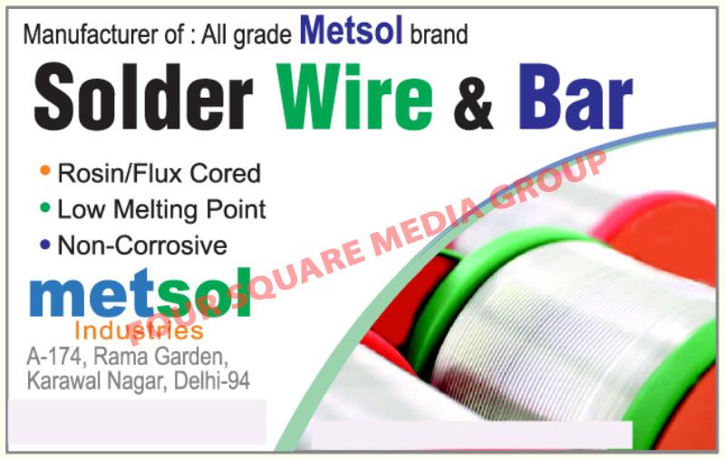 Solder Wires, Solder Bars