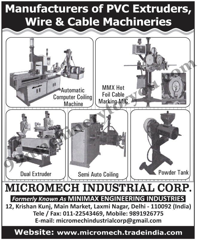 Cable Marking Machines   Automatic Computer Coiling Machines   PVC ...