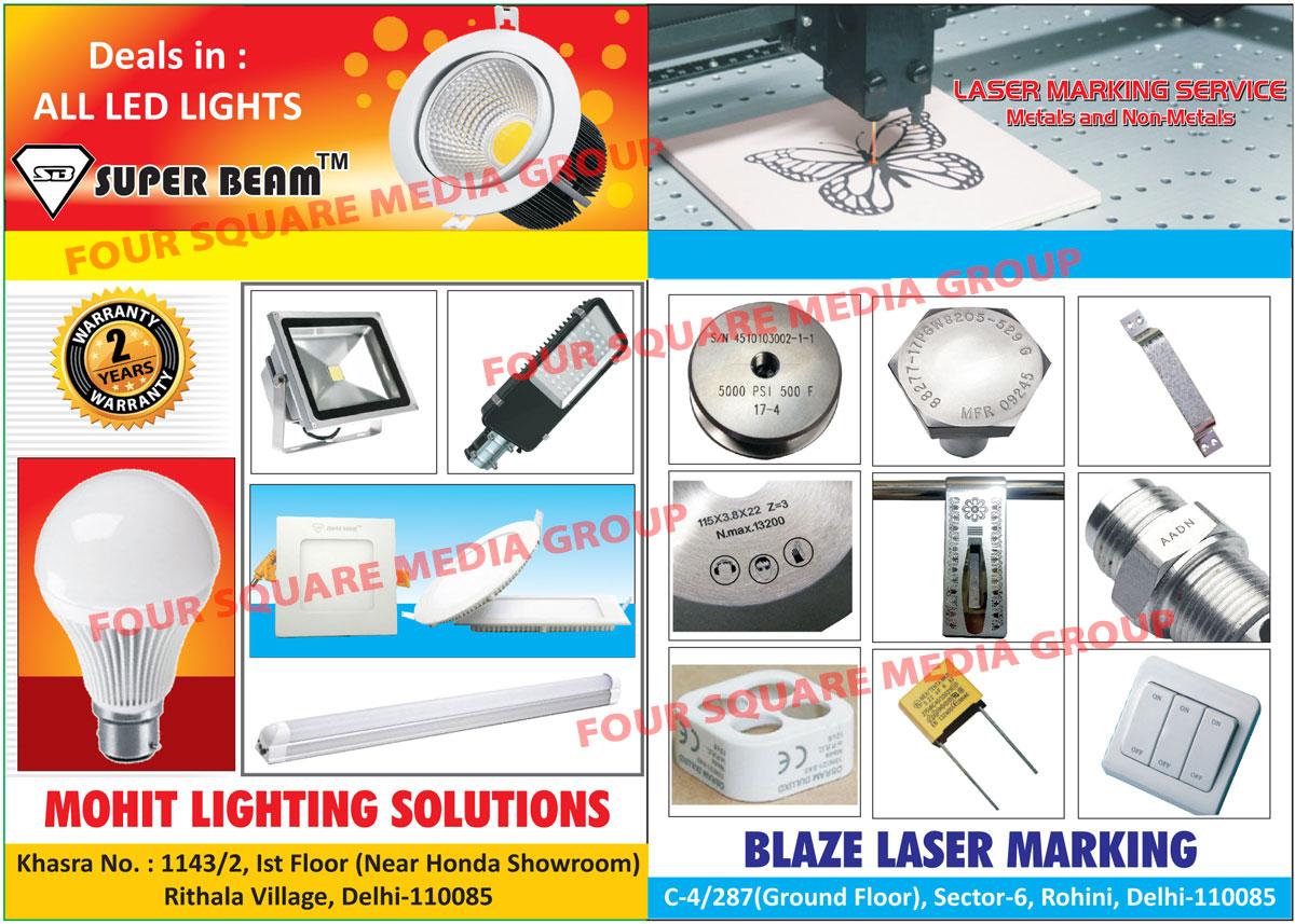 Led Lights, Metal Laser Marking Services, Non Metal Laser Marking Services