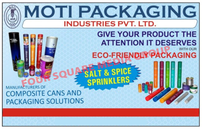 Composite Cans, Packaging Solutions,Food Cans, Aluminium lining Packing Can, Snacks Packing Cans, Dry Fruits Packing Cans, Salts Spray Cans, Paper Tube, Spiral Paper Tube, Metal Lids And Bottoms, Tin Containers, Tin Packaging Containers, Salt Sprinklers, Spice Sprinklers