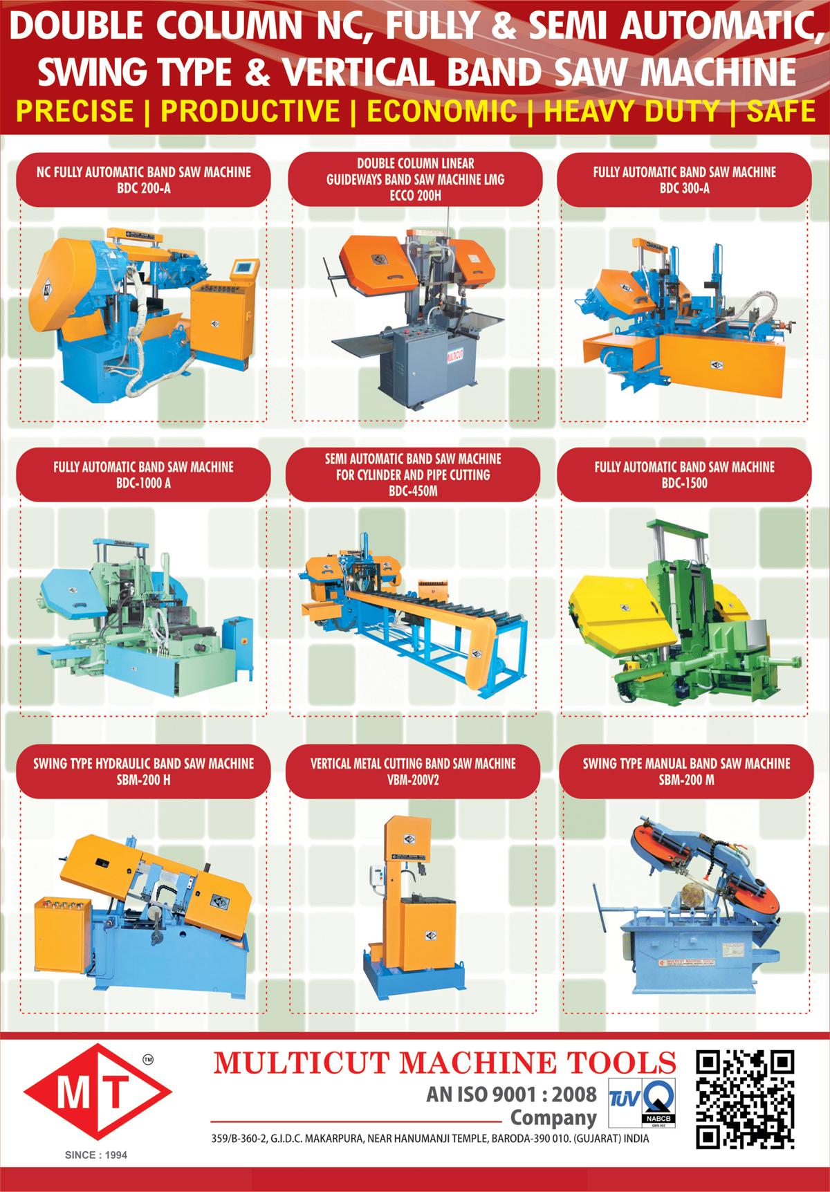 Bandsaw Machines,CNC Machines, Band Saw Machines, Swing Machines