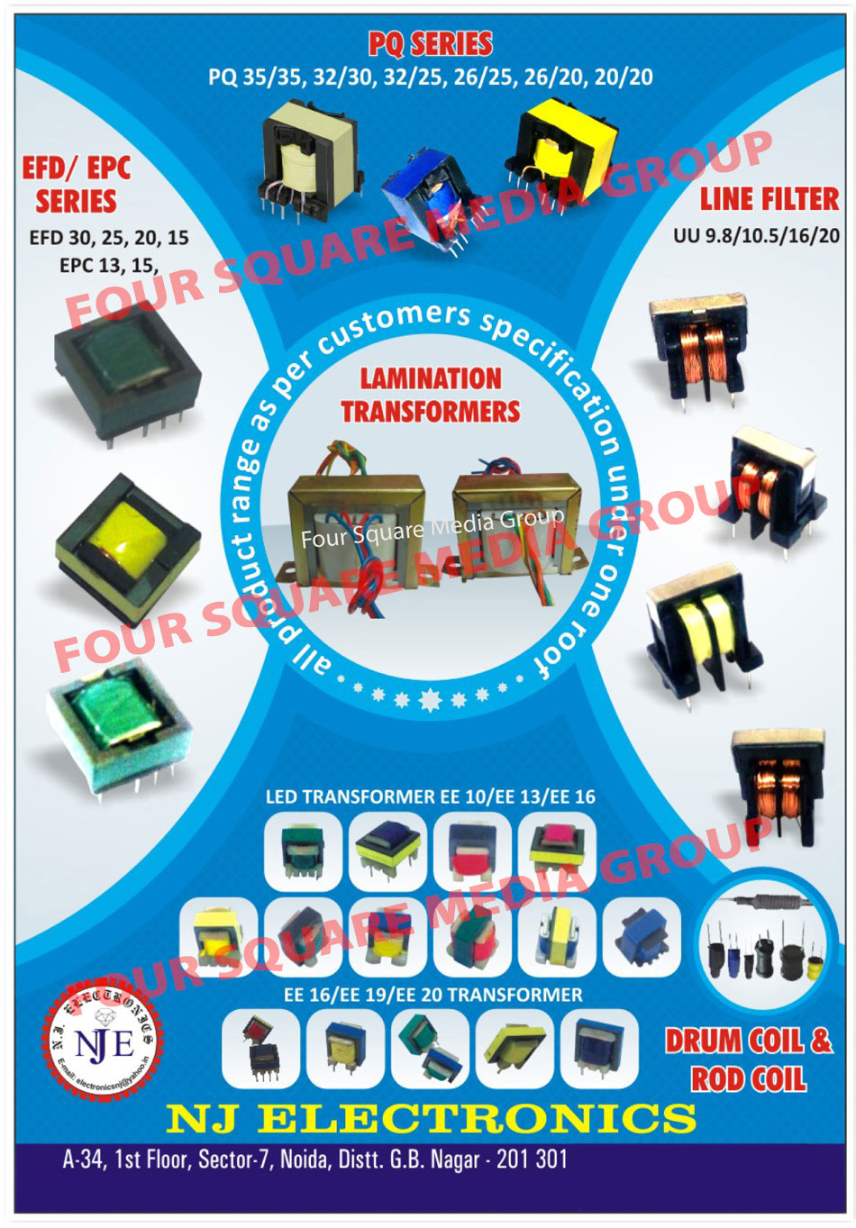 LED Drivers, SMPS Transformers, Choke Coils, CFL Choke Coils, CFL Toroidal, Toroidal Coils, Drum Coil Inductor, Power Choke, Line Filters, Customized Products, LED Transformers, LED Drivers, SMPS Transformers, Choke Coils, CFL Choke Coils, CFL Toroidal, Toroidal Coils, Drum Coil Inductor, Power Choke, Coils, Led Bulbs, Drum Coil, Rod Coil, EFD Series Transformer, EPC Series Transformers, EE Transformers, Lamination Transformers