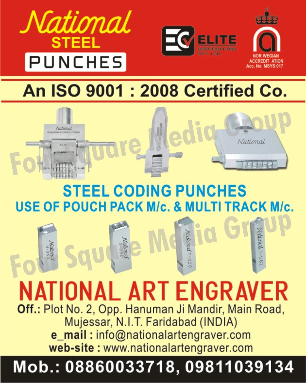 Steel Coding Punches, Steel Punches