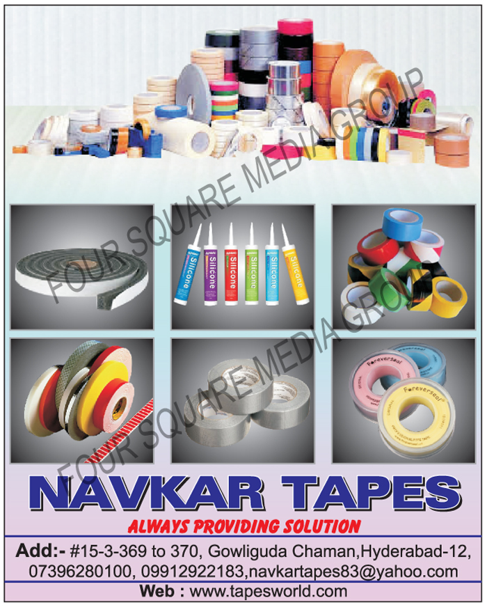 BOPP Tapes, Cotton Tape, Insulation Tape, Foil Tape, Self Adhesive Tape, Marking Tap, Sealing Tape, Packaging Tape, Cloth Tapes, Fiber Glass Tapes, Fibre Glass Tapes, Double Sided Tapes, Packaging Rolls, Anti Skid Tapes, Stretch Films, Adhesive Sealants, Duct Tapes, Nylon Tapes, Reflective Tapes, Caution Tapes, Floor Marking Tapes