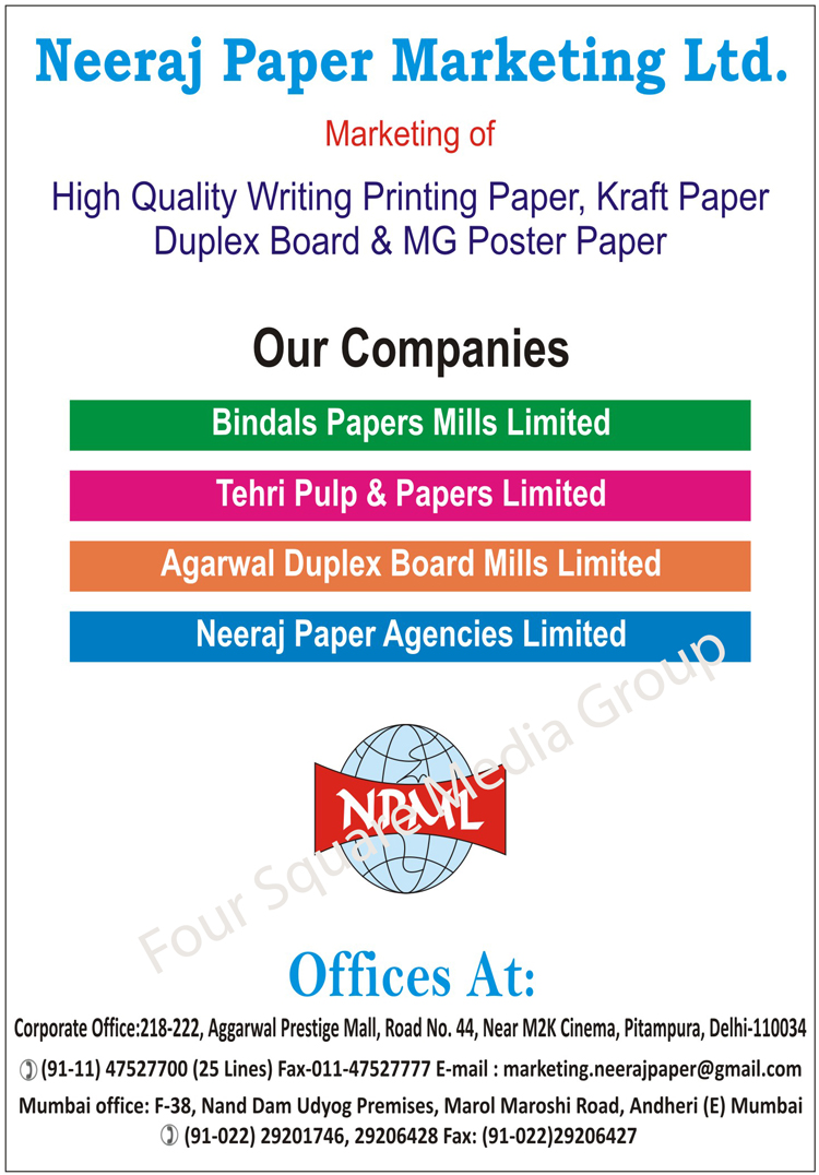 Writing Printing Papers, Kraft Papers, Duplex Boards, MG Poster Papers