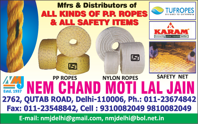 PP Ropes, Safety Items, Nylon Ropes, Safety Nets, Safety Products