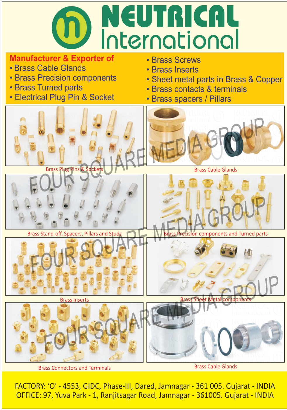 Brass Cable Glands, Brass Precision Components, Brass Turned Parts, Electrical Plug Pins, Electrical Plug Sockets, Brass Screws, Brass Inserts, Brass Sheet Metal Parts, Copper Sheet Metal Parts, Brass Components, Brass Terminals, Brass Spacers, Brass Pillars, Brass Stand Off, Brass Studs, Brass Connectors