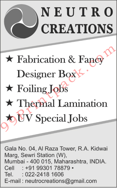 Designer Box Fabrication, Fancy Designer Box, Foiling Jobs, Thermal Laminations, UV Special Jobs,Fabrication Designer Box, Fancy Designer Box, CD Packaging Box, DVD Packaging Box, Shoes Box, Paper Box, Printed Box, Plain Box, Electronic Goods Packing Box, Brochure Printing Services