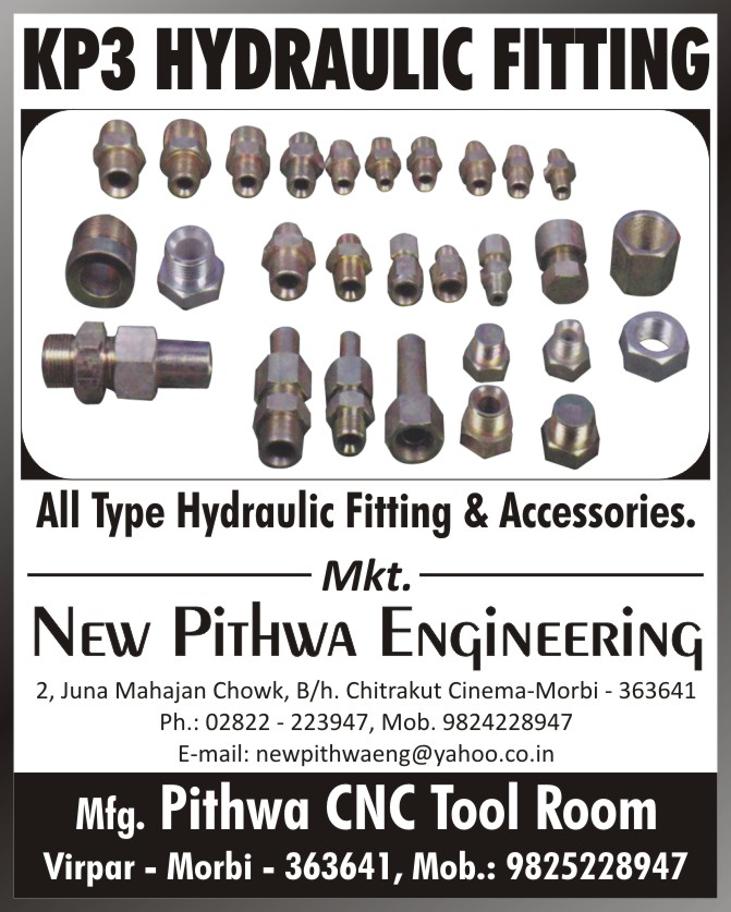 Hydraulic Fittings, Hydraulic Accessories, CNC Tool Room