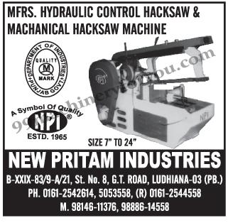 Hydraulic Control Hacksaw, Machanical Hack Machine, Hack Saw Machines