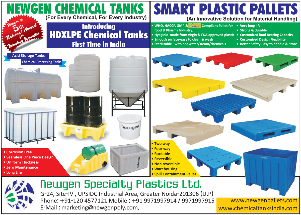 HDXLPE Chemical Tanks, Acid Storage Tanks, Chemical Processing Tanks, Plastic Pallets