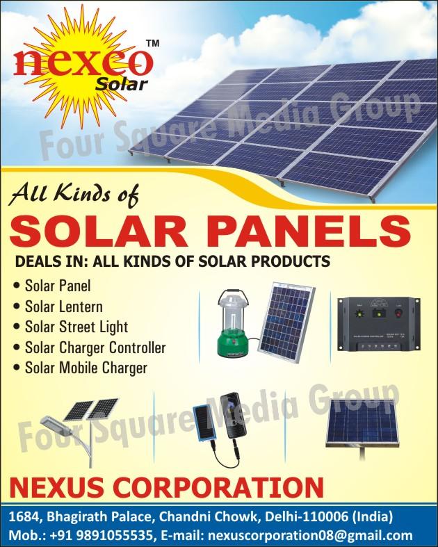 Solar Panels, Solar Products, Solar Lantern, Solar Street Lights, Solar Charger Controller, Solar Mobile Charger,Street Lights