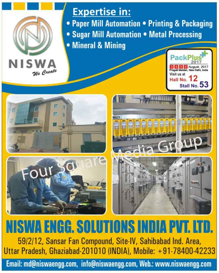 Paper Mill Automations, Printings, Packagings, Sugar Mill Automations, Metal Processings, Minerals, Minings