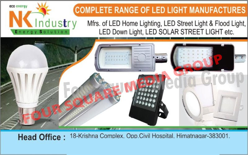 Led Home Lights, Led Street Lights, Led Flood Lights, Led Down Lights, Led Solar Street Lights, Led Lights, Flood Light