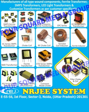 Wound Components, Ferrite Transformers, SMPS Transformers, Led Light Transformers, Customize Transformers, SMPS Ferrite Transformers, Lighting Ferrite Transformers, High Frequency Ferrite Transformers, EPC Series Transformers, EE Series SMPS Transformers, EC Series SMPS Transformers, Choke Coils, RF Choke Coils, Toroidal Coil Inductors, Ferrite Inductors, SMD Transformers, ETD Series SMPS Transformers, PQ Series SMPS Transformers, EDR Series SMPS Transformers, Common Mode Chokes, Filter Chokes, Filter Coils