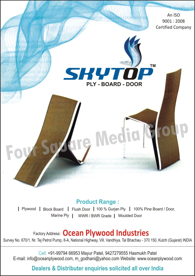 Plywood, Block Board, Flush Door, Gurjan Plywood, Pine Board, Pine Door, Marine Ply, Moulded Door, WWR Grade, BWR Grade
