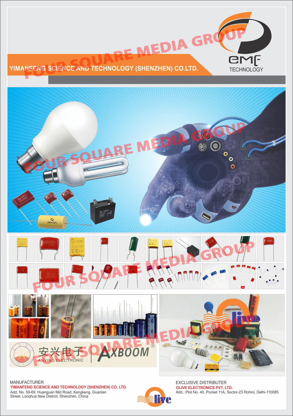 Electrolytic Capacitors, Radial Type Capacitors, Snap In Type Capacitors, Screw Type Capacitors, Smd Type Capacitors, Epcos Capacitors, LED Lighting Capacitors, Lighting Electronic Components, Aluminum Electrolytic Capacitors, Radial Type Capacitor for Inverters, LED Drivers, Ac Power Capacitors, LED Bulb Housings, LED Chip for LED Bulbs