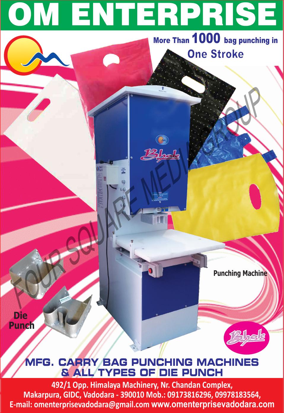 Bag Punching Machines, Carry Bag Punching Machines, Die Punches, Punching Machines