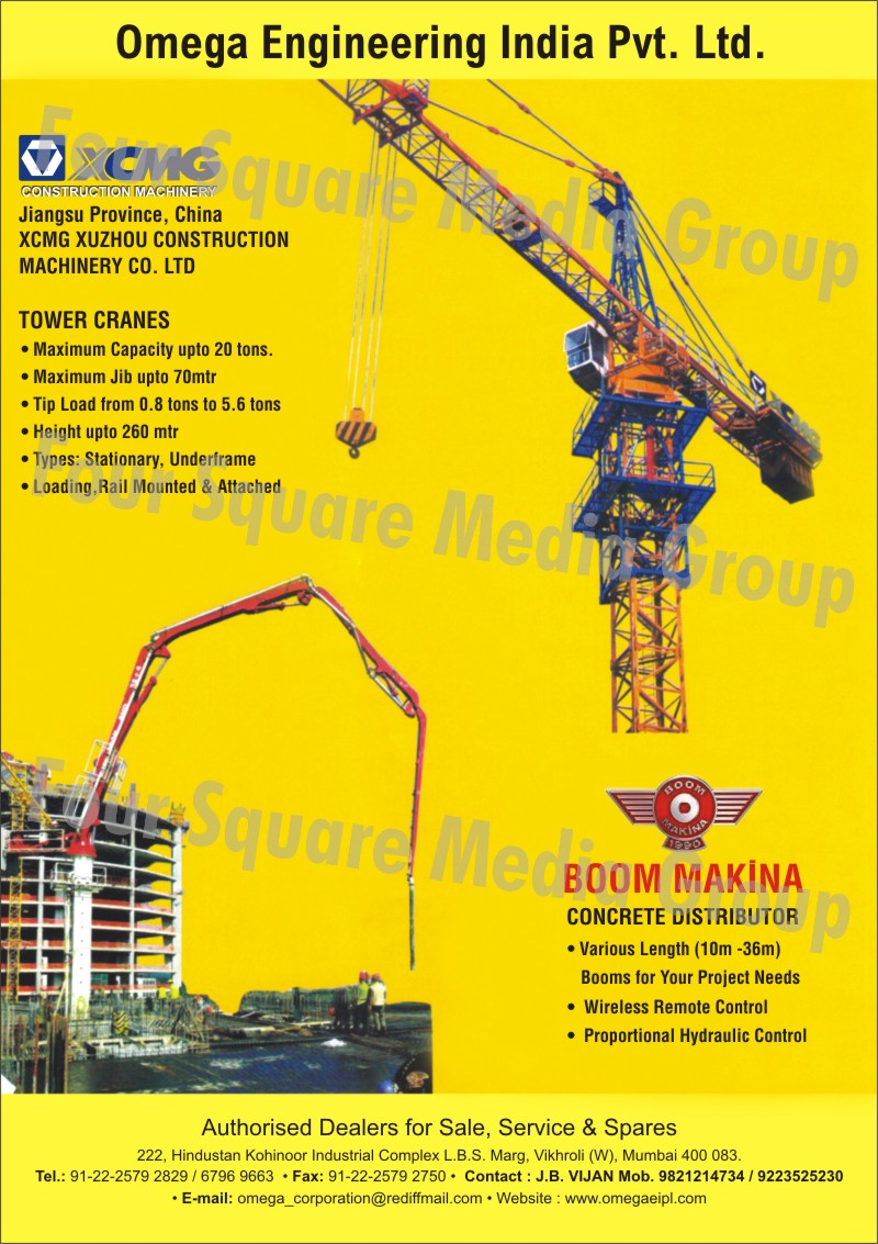 Tower Cranes, Concrete Distributor