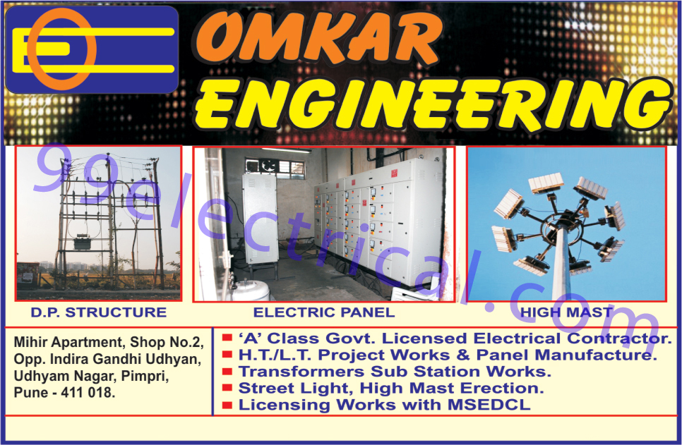DP Structure, Electric Panel, High Mast, Transformers Sub Station Works, Street Lights,Electrical Items, Electrical Products