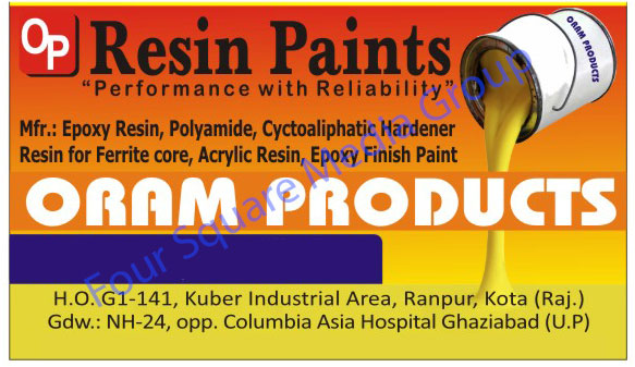 Epoxy Resin, Polyamide, Cyctoaliphatic Hardener, Ferrite Core Resin, Epoxy Finish Paint, Acrylic Resin,Paints, Casting Compound, Construction Chemicals
