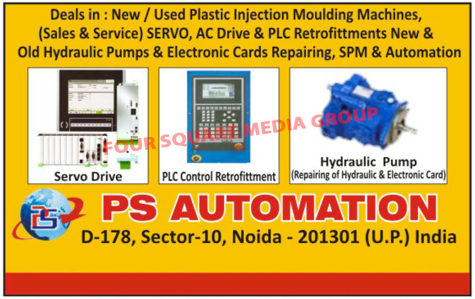 Used Plastic Injection Moulding Machines, Second Hand Injection Moulding Machines, Plastic Injection Moulding Machines, Servo Drives, PLC Control Retrofittments, AC Drive Repairing services, PLC Repairing Services, Hydraulic Pump Repairing Services, Electronic Card Repairing Services, SPM, Special Purpose Machines, Hydraulic Pumps, Old Hydraulic Pumps, Second Hand Hydraulic Pumps