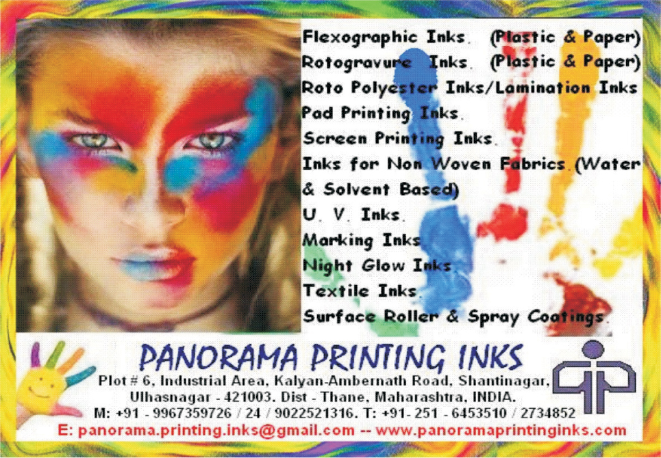 Flexographic Inks, Rotogravure Inks, Roto Polyester Inks, Lamination Inks, Pad Printing Inks, Screen Printing Inks, Water Based Non Woven Fabric Inks, Solvent Based Non Woven Fabric Inks, UV Inks, Marking Inks, Night Glow Inks, Textile Inks, Surface Roller, Spray Coatings