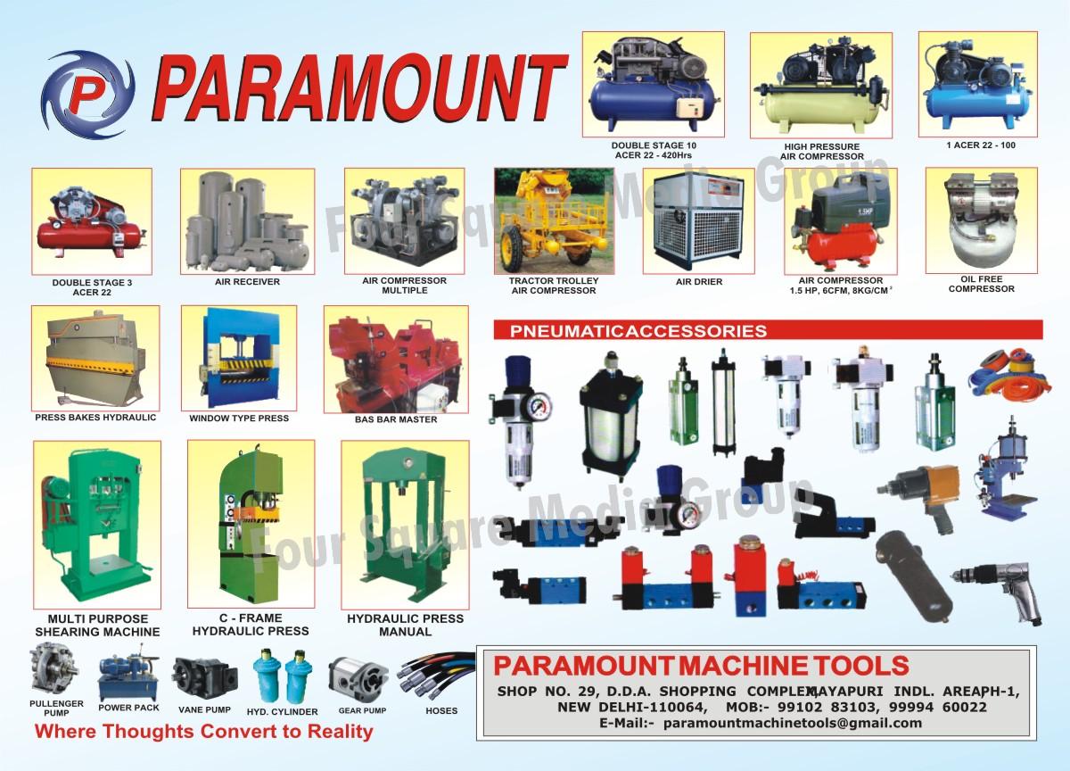 Reciprocating Air Compressor | Air Receiver | C Frame Hydraulic ...