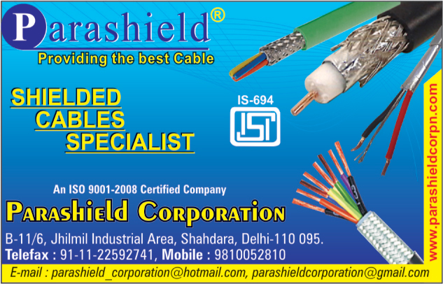Shielded Cables,Insulated Cables, Co Axial Cables, Audio Cables, Electric Cables, Panel Wires, Electric Wires