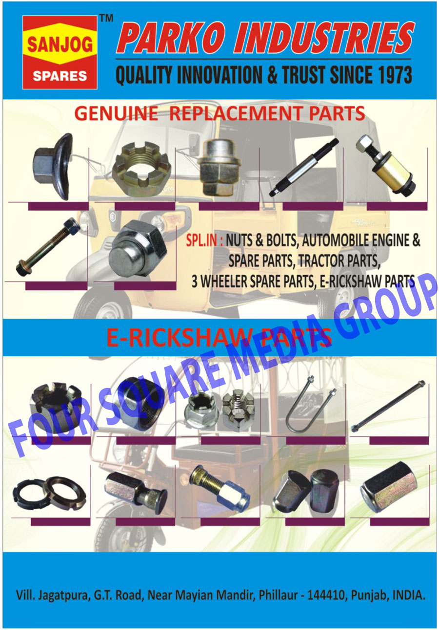 Automotive Replacement Parts | Nuts | Bolts | Automobile Engines ...