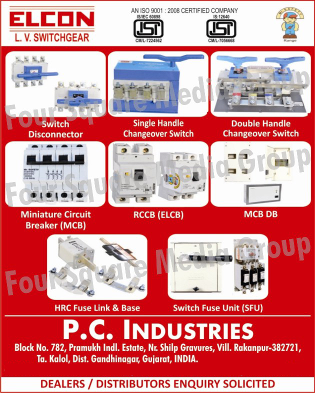 LV Switchgears, Switch Disconnectors, Single Handle Changeover Switches, Double Handle Changeover Switches, HRC Fuse Links, HRC Fuse Base, Miniature Circuit Breakers, MCB, RCCB, ELCB, MCB DB, Switch Fuse Units, SFU, Load Break Switches, Single Handle On Load Changeover Switches, Double Handle on Load Changeover Switches, Switch Fuse Unit in Stainless Steel Enclosures, Combination Fuse Units