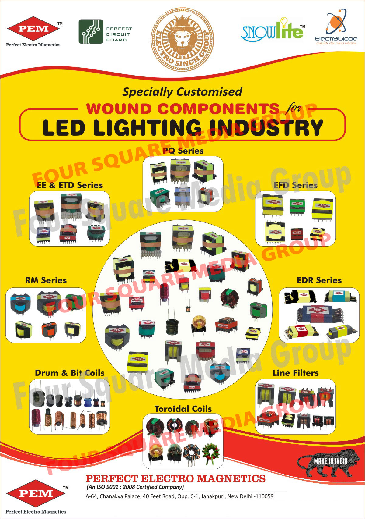Led Light Industry Wound Components, Drum Coils, Bit Coils, Toroidal Coils Line Filters