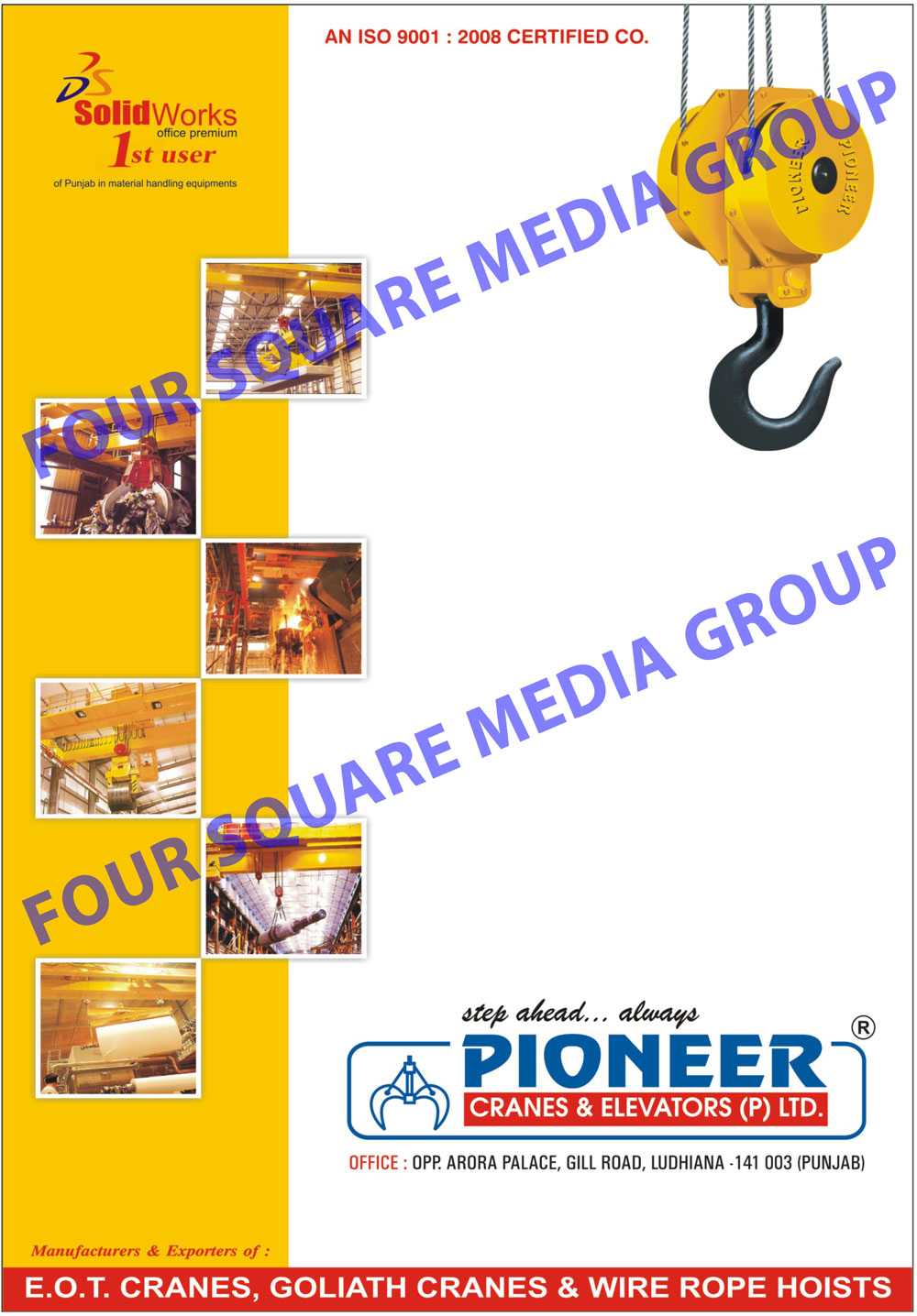 Material Handling Equipments, EOT Cranes, Goliath Cranes, Wire Rope Hoists, Elevators,Chain Pulley Blocks, Single Girder EOT Cranes, Double Girder EOT Cranes, Jib Cranes
