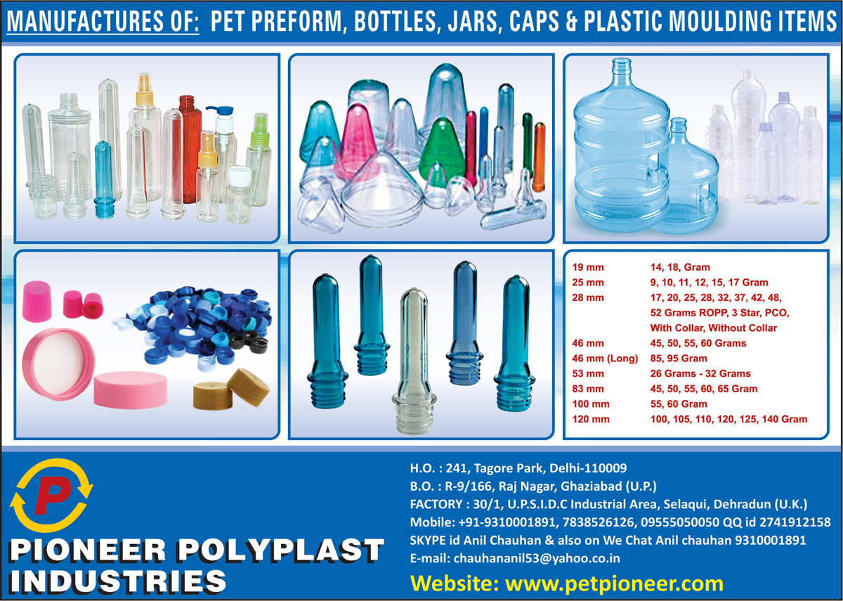 Pet Preforms, Pet Bottles, Pet Jars, Pet Caps, Plastic Moulding Items, Plastic Moulding Products,Pet Products, Pet Bottle Preforms, Pet Jar Preforms, Pet Bottles, Polypropylene Caps